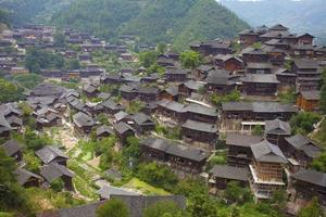 arkitektur av kinesiska minoritetsnationaliteter foto