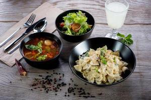 italiensk middag foto