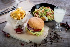 amerikansk lunch foto