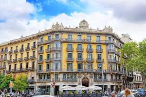 vackert landskap i stadsutsikten Barcelona foto
