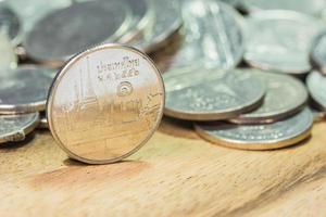 Thailand, avbildat i det thailändska baht-myntet. foto