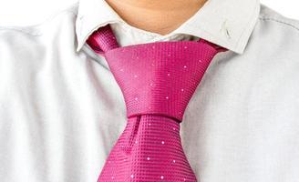 klänningskjorta med rött slips foto