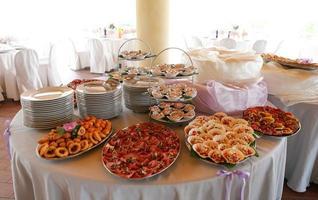 elegant bröllopsmat foto