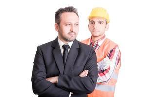 affärsman och byggmästare foto