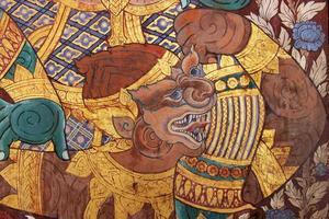 traditionell thailändsk stilmålning foto