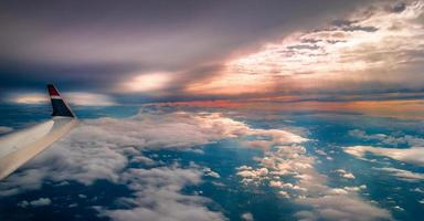 himmelsk vinge utsikt
