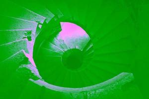 modernt utomhus spiraltrappa sätt foto