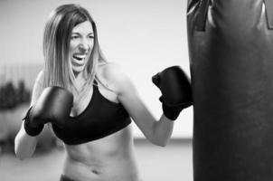 kvinna fitness foto