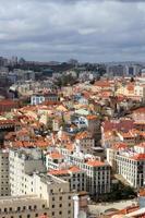 stadsbild av Lissabon, portugaliska byggnader foto