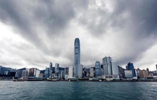 yacht hong kong stadsbyggnader foto
