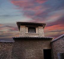 alcazaba slott på gibralfaro berget. malaga, andalusia, spanien. foto