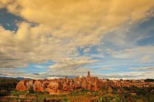 medeltida stad foto