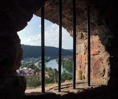 fönster vid wertheim slott foto