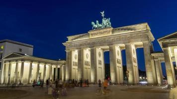 Brandenburg gate på natten, belin foto