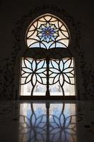 interiör från sheik zayed moské, abu dhabi foto