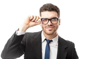 affärsman som bär glasögon foto