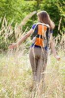 kvinna i rågfältet