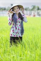 vacker vietnamesisk bonde tjej foto