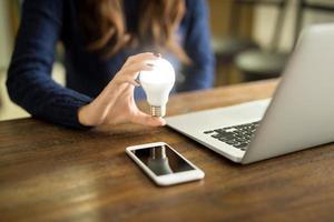 affärskvinna med en innovativ idé foto