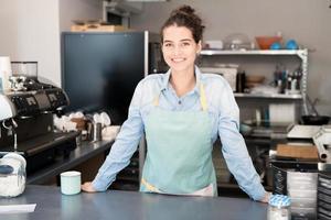 kvinnlig ägare till små företag