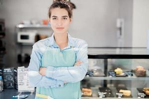 säker kvinnlig entreprenör