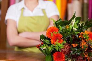 på blomsterbutiken.