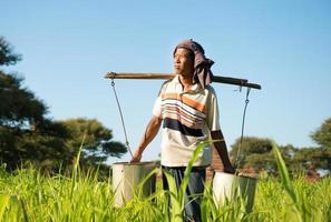burmesisk jordbrukare foto