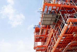 produktionsplattform för olja och gas foto