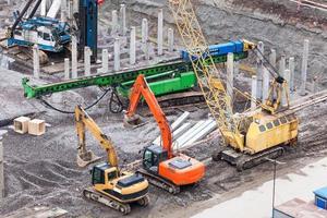 specialmaskiner på byggarbetsplatsen foto