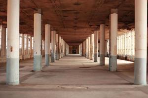 abondaned industriell interiör foto