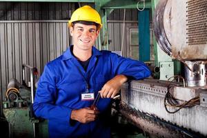 industriell mekanisk tekniker foto