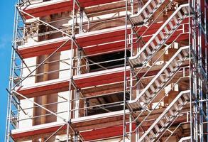 byggnadsställningar foto