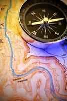 kompass på kartan
