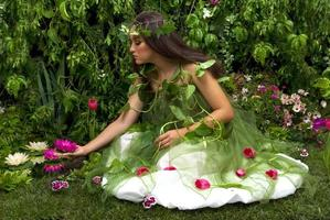 förtrollad trädgård foto
