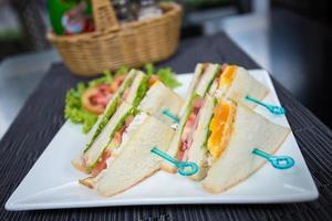 äggsalladsmörgås foto