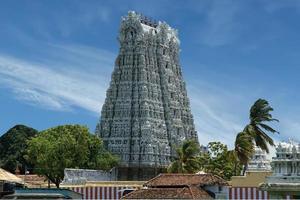 suchindram tempel. kanniyakumari, Tamil Nadu, södra Indien foto