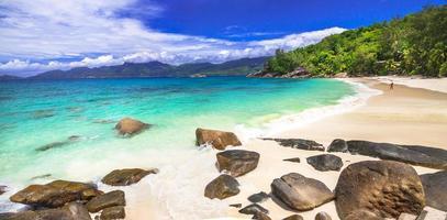 panorama över otroliga seychellerna