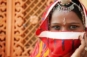 traditionell indisk kvinna foto