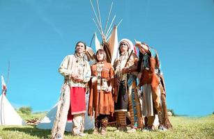 grupp nordamerikanska indier foto