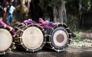 chenda - traditionellt indiskt slaginstrument foto