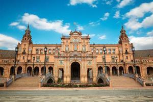 plaza de espana i Sevilla, Andalusien foto