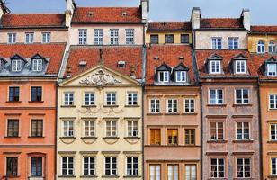 arkitektur av gamla stan i Warszaw, Polen foto