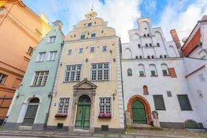 tre bröderhus i Riga foto
