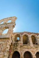 gamla romerska arenan, antika romerska amfiteatern i Verona, Italien foto