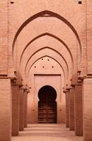 1100-talets tennmel-moské, höga atlasberg, Marrakech, Marocko foto