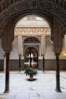 Sevilla, verklig alcazar arabisk arkitektur foto
