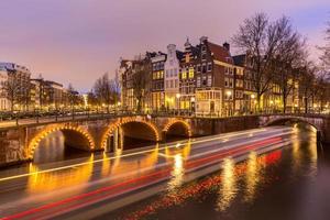 amsterdam kanaler Nederländerna foto