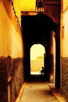marockanska gatan foto