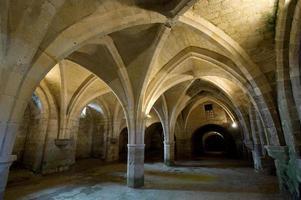 St.-Jean-des vignes kloster i soissons (picardy, france) foto