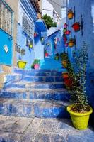 chefchaouen berömda blå stad i Marocko foto